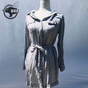 a.n.a. light stripped front-tie or buttoned robe
